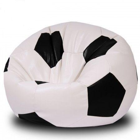 Кресло Мяч из Экокожи XXL бело-черный - фото 4519