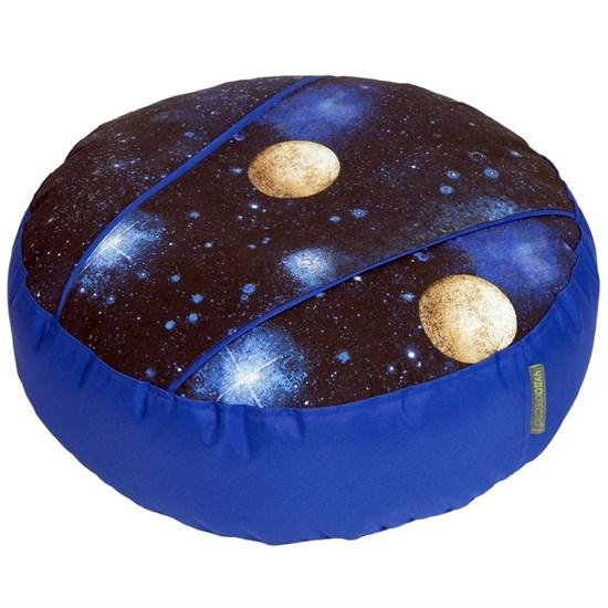 Пуф для ног Космос синий 55*25 - фото 4534
