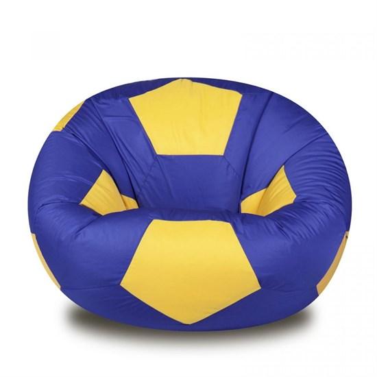 Кресло Мяч из Нейлона XXL сине-желтый - фото 4739