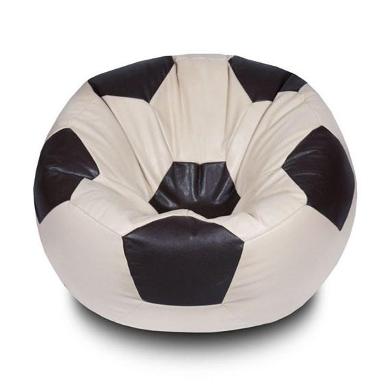 Кресло-мяч из Экокожи бежево-коричневый XXL - фото 4745