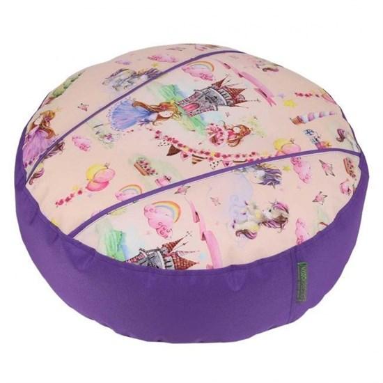 Пуфик детский Принцесски фиолетовый 55*25 - фото 4771