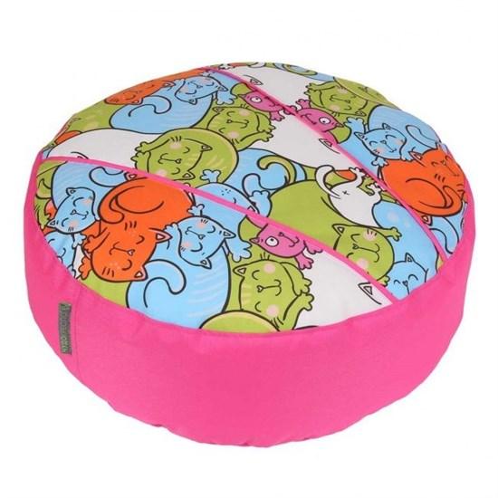 Пуфик детский Кошки розовый 55*25 - фото 4783