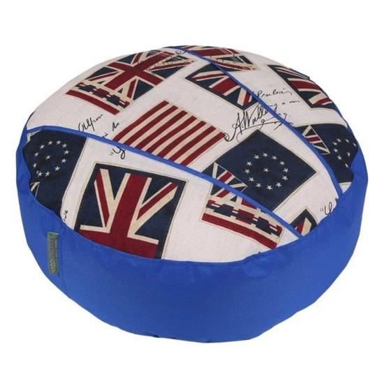 Пуф для ног Флаги синий 55*25 см - фото 4789