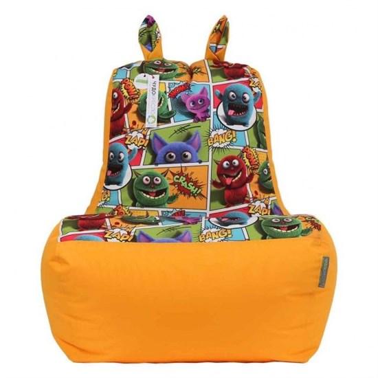 Кресло-ушастик Монстры оранжевый XL - фото 4798