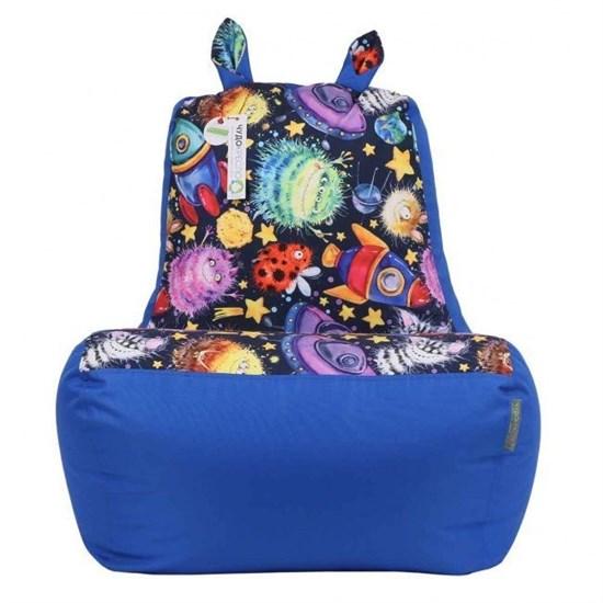 Кресло-ушастик Пришельцы синий XL - фото 4801