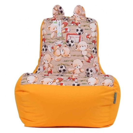 Кресло-ушастик Мишки желтый XL - фото 4802