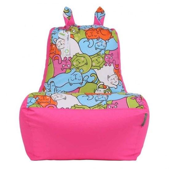 Кресло-ушастик Кошки розовый XL - фото 4803
