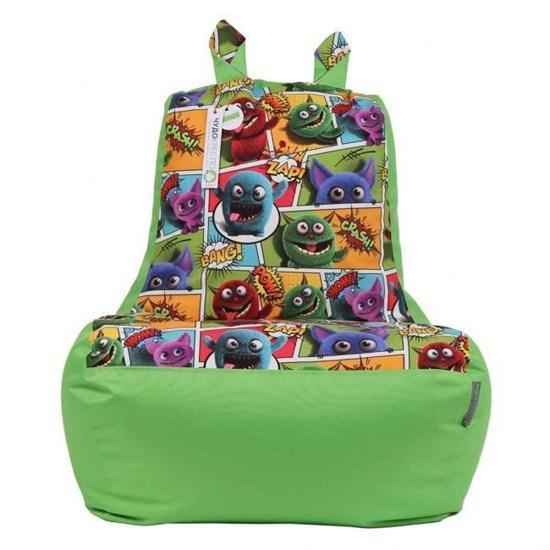 Кресло-ушастик Монстры салатовый XL - фото 4805