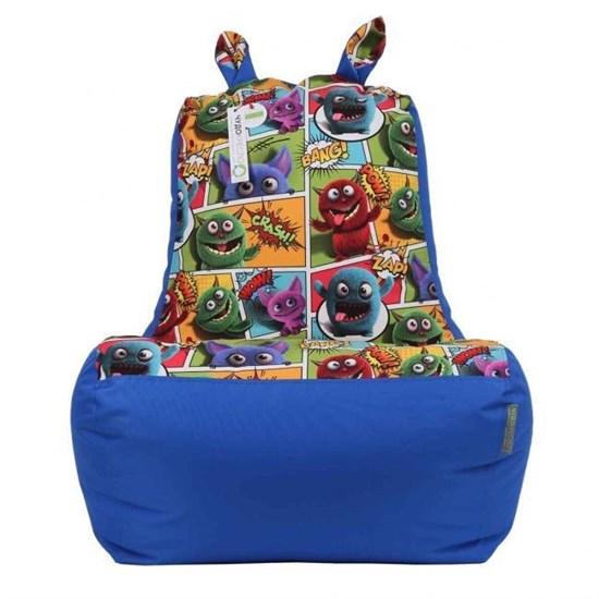 Кресло-ушастик Монстры синий XL - фото 4806