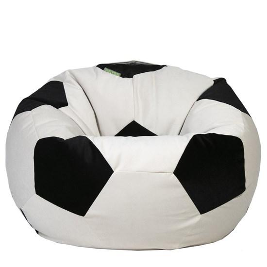 Кресло мяч из Велюра XXL бело-черный - фото 4833