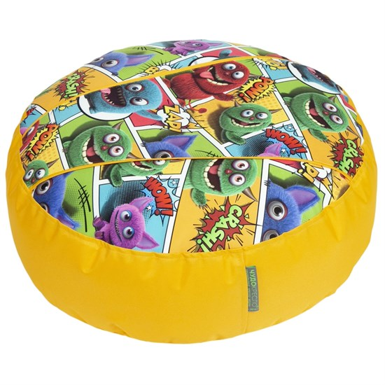 Пуфик детский Монстры желтый 55*25 - фото 4977