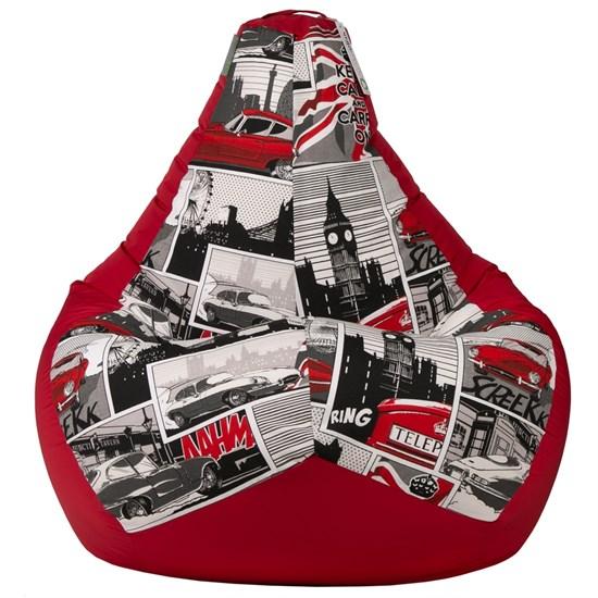 Кресло-мешок Ягуар красный XL - фото 5015