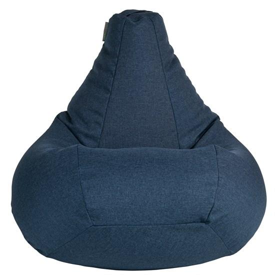 Кресло-мешок-груша из Жаккарда синий XXL - фото 5067