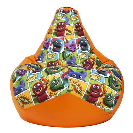 Кресло-мешок Монстры оранжевый XL - фото 5083