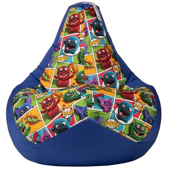 Кресло-мешок Монстрики cиний XL - фото 5205
