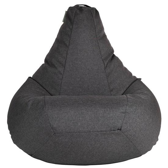 Кресло-мешок-груша из Жаккарда графитовый XXL - фото 5422