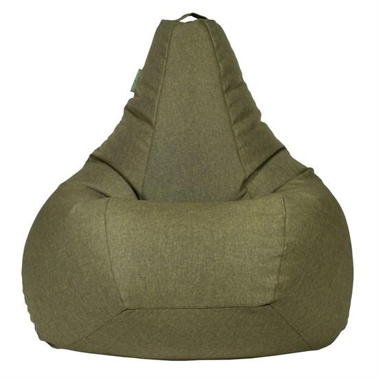Кресло-мешок-груша Жаккард зеленый XXL - фото 5698