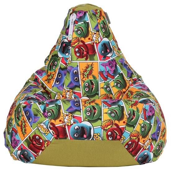 Кресло-мешок-груша Монстры Микс Зеленый XXL - фото 5718