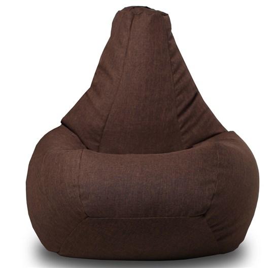 Кресло-мешок-груша Жаккард коричневый XXL - фото 5729