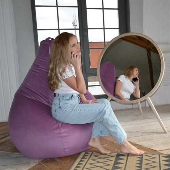 Кресло-мешок-груша из Велюра фиолетовый XXL - фото 5881