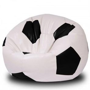 Кресло Мяч из Экокожи XXL бело-черный