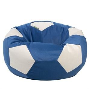 Кресло-мяч из Велюра сине-белый XXL