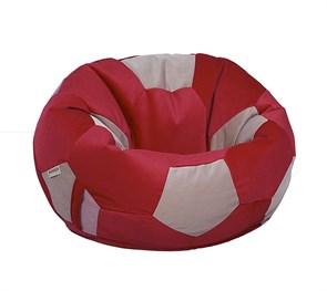Кресло мяч Велюр XXL красно-бежевый