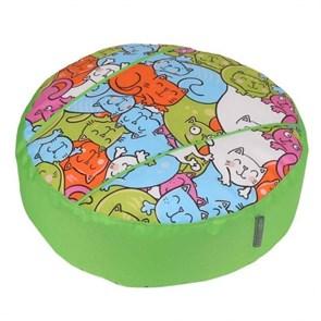 Пуфик детский Кошки салатовый 55*25 см