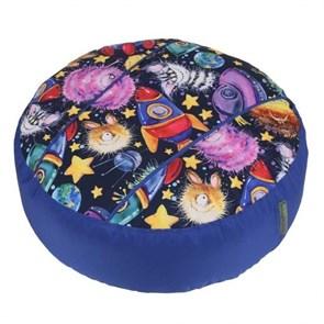 Пуфик детский Космостарс синий 55*25