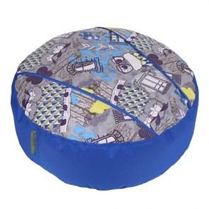 Пуфик детский Совы синий 55*55