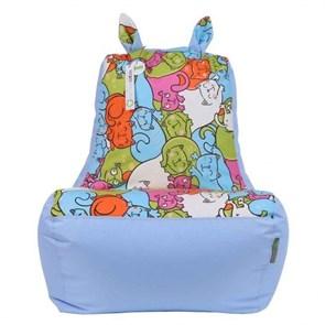 Кресло-ушастик Кошки голубой XL
