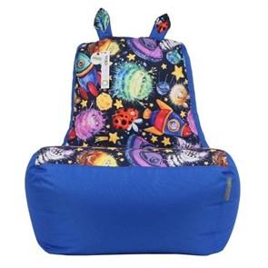 Кресло-ушастик Пришельцы синий XL