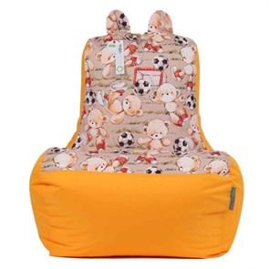 Кресло-ушастик Мишки желтый XL