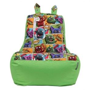 Кресло-ушастик Монстры салатовый XL