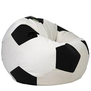 Кресло мяч из Велюра XXL бело-черный - фото 4830
