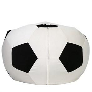 Кресло мяч из Велюра XXL бело-черный - фото 4831