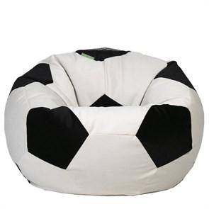 Кресло мяч из Велюра XXL бело-черный