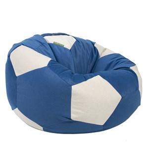 Кресло-мяч из Велюра сине-белый XXL - фото 4835