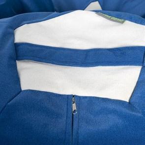 Кресло-мяч из Велюра сине-белый XXL - фото 4836