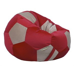 Кресло мяч Велюр XXL красно-бежевый - фото 4837