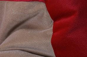 Кресло мяч Велюр XXL красно-бежевый - фото 4839