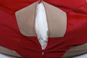 Кресло мяч Велюр XXL красно-бежевый - фото 4840