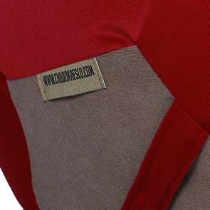 Кресло мяч Велюр XXL красно-бежевый - фото 4841
