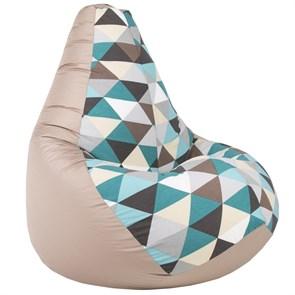 Кресло-мешок Ромбы бежевый XL - фото 4860