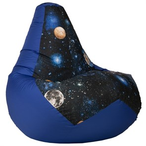 Кресло-мешок-груша Космос синий XXL - фото 4866