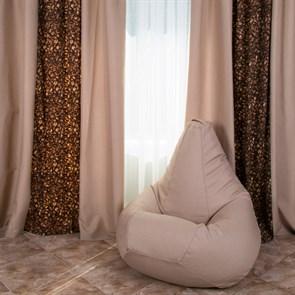 Кресло-мешок из Жаккарда бежевый XXL - фото 4913
