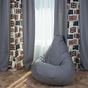 Кресло-мешок-груша из Жаккарда серый XXL - фото 4941