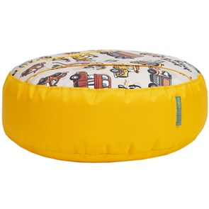 Пуфик детский Машинки желтый 55*25 - фото 4966