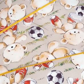 Пуфик детский Мишки желтый 55*25 - фото 4969