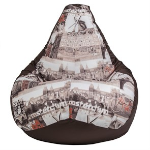 Кресло-мешок Амстердам коричневый XXL